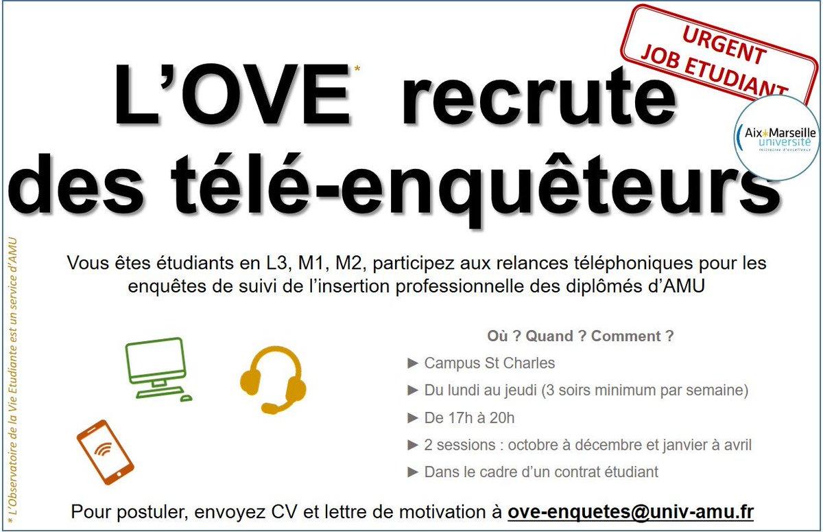 Aix Marseille Université On Twitter Job Alert Chers