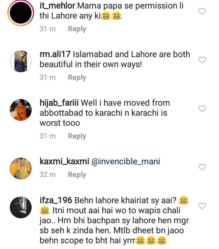 Thank you @mangobaaz for sharing my tweets without consent on Instagram that has a totally different audience. Love waking up to so many abuses and messages from angry Lahoris who refuse to get out of their bubble. Let me name and shame them now.