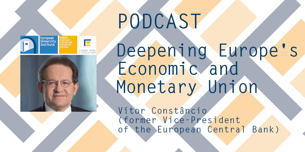 #Podcast: Vítor Constâncio (@VMRConstancio), former Vice-President of the @ecb, addresses the reforms for deepening Europe's Economic and Monetary Union #EMU, the EU #policy toolkit in the event of a crisis, and the European #SafeAsset.📻https://soundcloud.com/schumancentre/deepening-emu-vitor-constancio…