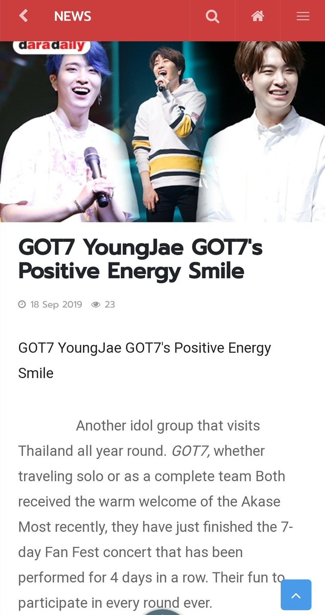 A Thai article about Youngjae's smile (and also the trending of his birthday hashtag #OurGravityYoungjaeDay)   Auto translation by Google works quite ok so check it out to see some happy handsome pictures of Youngjae!  #Youngjae #영재 #GOT7  #갓세븐 @GOT7Official @GOTYJ_Ars_Vita  https:// twitter.com/daradaily/stat us/1174103311349424128   … <br>http://pic.twitter.com/TSws0UDuXG
