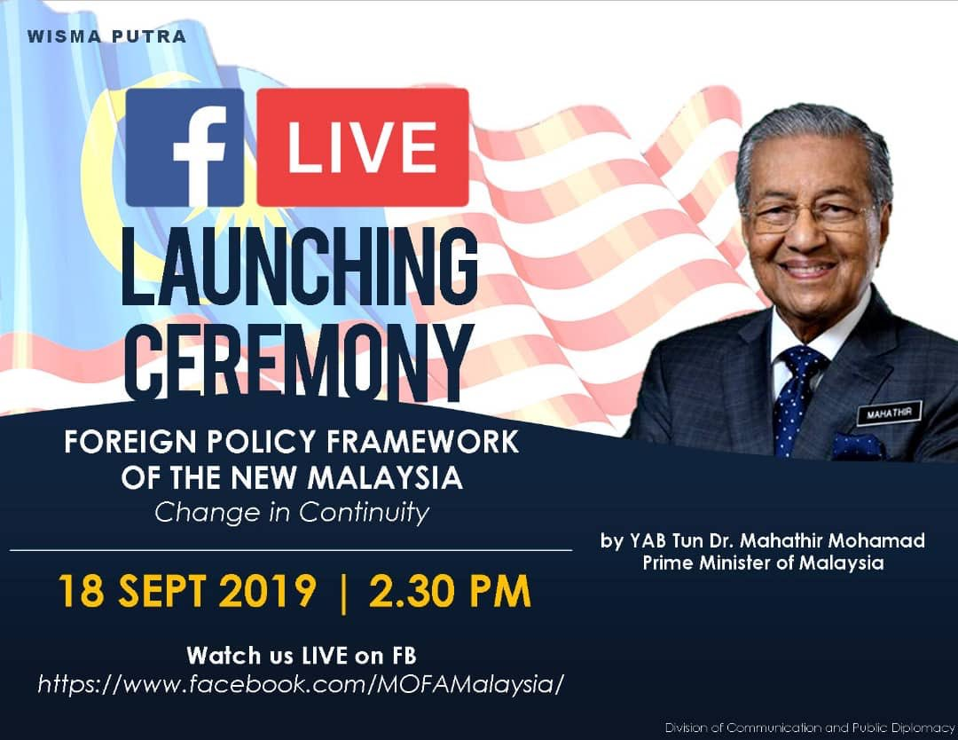 Mahathirs slogan for Malaysias new foreign policy framework is Change in Continuity...a rip off Malcolm Turnbull, ripping off Veep