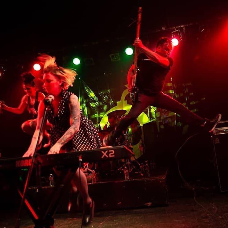 Word on the street is that a new single from our upcoming album drops tomorrow.   : @brennanwest_photog   #jump #punk #thespinethatbinds #alternativetentacles #tsunamibomb #phoenixtheater #womenofpunk #thehathorspic.twitter.com/V4eqWQxA0k