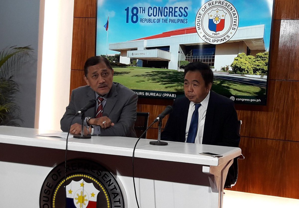 Minority Leader, Manila Rep. Benny Abante and Marikina Rep. Bayani Fernando (L-R) agree that the proposed MMDA budget for 2020 must be augmented, citing the agency's awesome task of managing metro traffic. | via @mbellsonaq https://t.co/pjQnyYaInu
