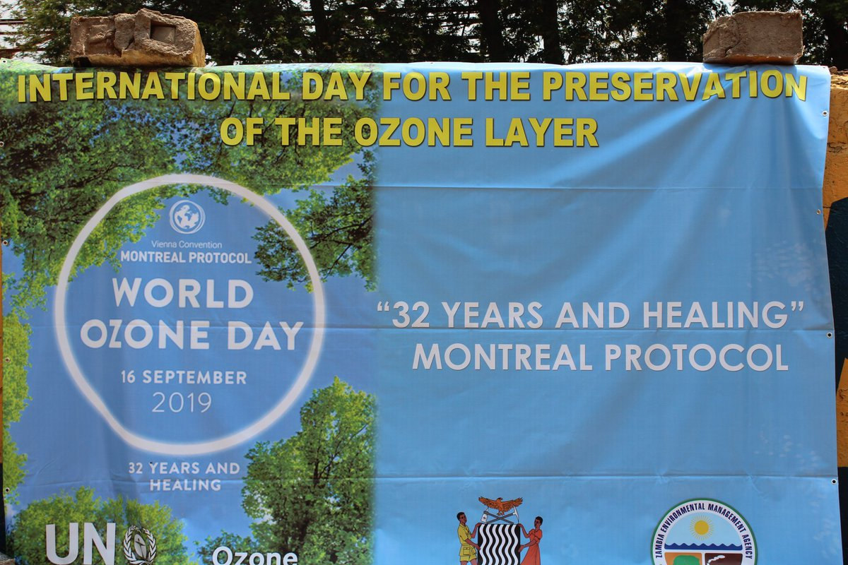 Ozone day 2019: Josphat Lombe, Eastern Province Deputy PS calls for adoption of climate friendly equipment for our refrigerators and air condition systems among others @UNEnvironment  @RuthBWitola @friphiri @msimuko
