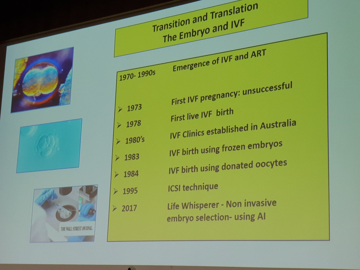 Transition and translation the embryo and IVF @HDA_SA 15th annual Oration @sachiefsci<br>http://pic.twitter.com/rxxAE0hIG1