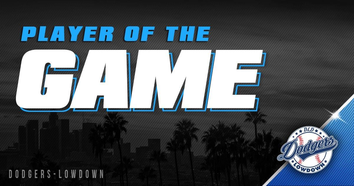 Tonight's player of the game goes to Corey Seager. He went 2 for 4 with 4 RBI but both his hits put the team ahead. #PlayerOfTheGame #LABleedsBlue