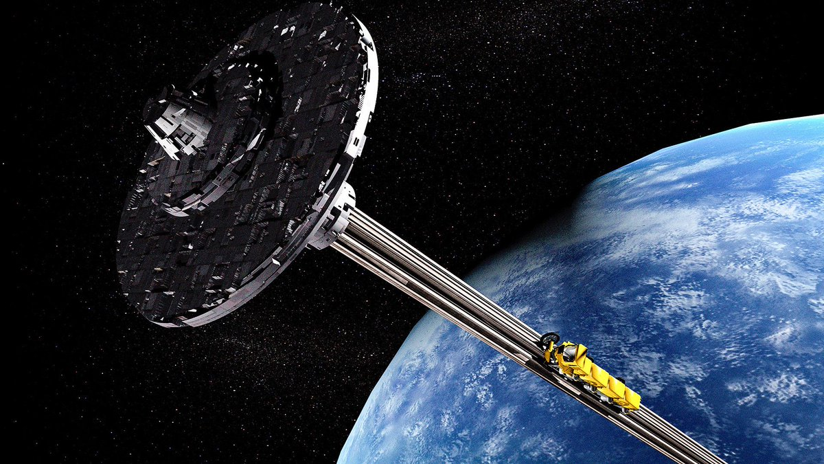 Space elevator; image courtesy of Getty Images