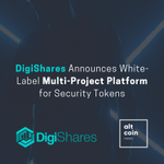 Image for the Tweet beginning: DigiShares Announces White-Label Multi-Project Platform