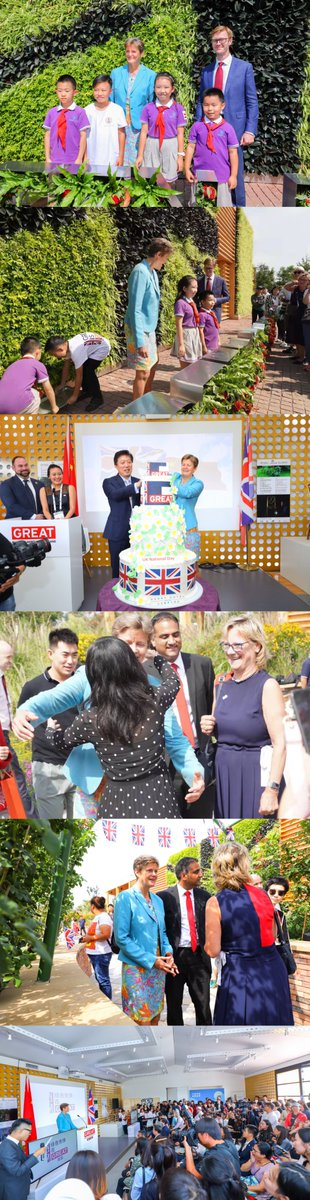 Successfully hosted 🇬🇧National Day at the UK Garden and Pavilion at the 2019 #BeijingExpo. During the day thousands of visitors visited exhibits on clean energy as well as UK culture, heritage and creativity. Our Ambassador Barbara Woodward launched the #GreenisGREAT campaign.