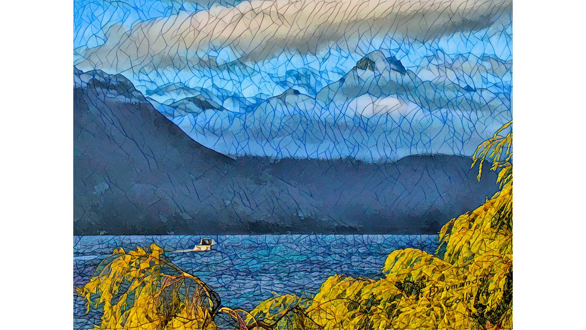 'Trip to Queenstown' (photo with a combination of filters that creates a kind of stained glass vibe) #newzealand #digitalart #landscapelovers #art