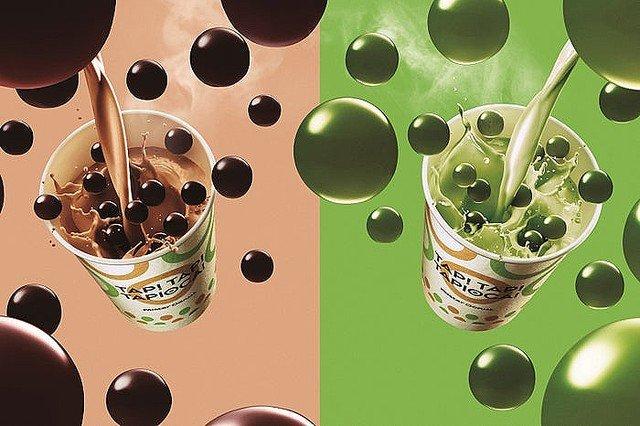 【もちもち】ミスド「ホットタピオカドリンク」ミルクティ&抹茶ミルクが登場!ミルクティにはブラックティタピオカ、抹茶ミルクには抹茶タピオカを使用。20日から発売されます。