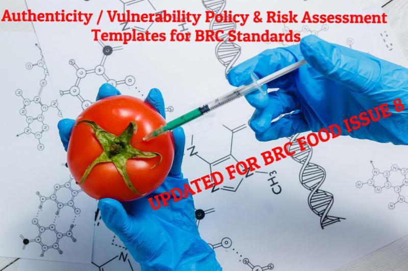Authenticity & Vulnerability risk assessment templates for BRC Standards https://t.co/DDgIfqVqTk https://t.co/uLKoy6imXy