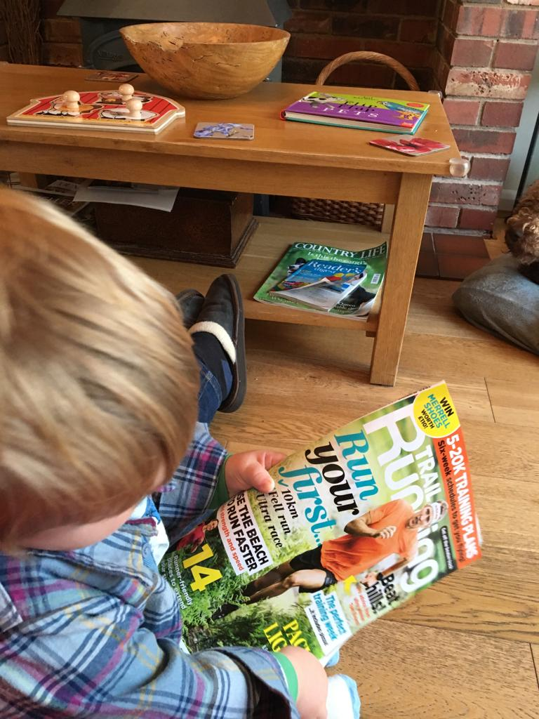 My grandson enjoying this months @TrailRunningMag cant wait until we hit the trails together @WildGingerRuns pic.twitter.com/dUrd4YjYx5