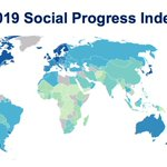 Image for the Tweet beginning: The just released 2019 #SocialProgress