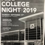 Image for the Tweet beginning: College Night is tomorrow! Be