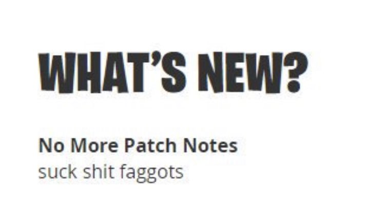 When patch notes coming out