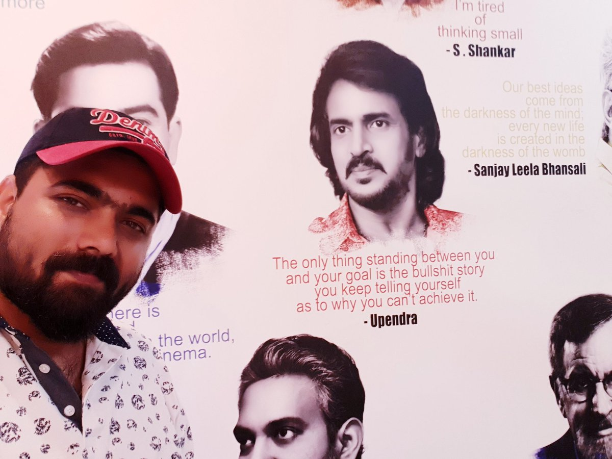 This pic is of a wall in my office with directors whome I adore & inspired.. u have been a great inspiration to me @nimmaupendra sir.. happy birthday ... lots of love.. #HappyBirthdayUppi