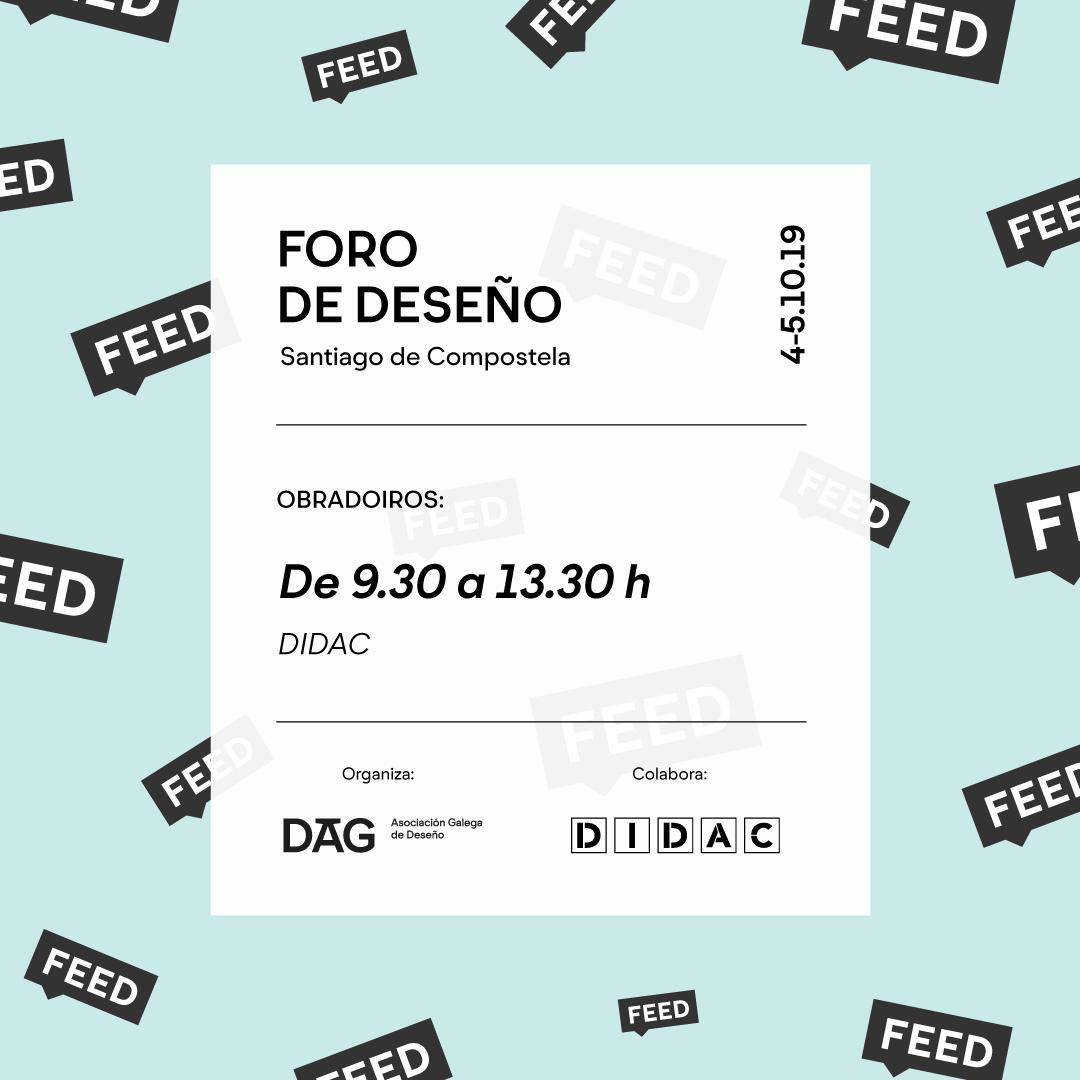 Estás pensando en participar nos obradoiros do #FEED2019? Informamos que as prazas para o obradoiro con @arturgalocha xa están esgotadas. Quedan só 3 para o obradoiro de xestión de equipos e sistemas de deseño de @dsaltaren. Reserva a túa praza en feed-2019.eventbrite.es