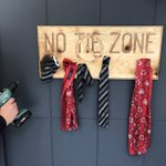 Image for the Tweet beginning: No Tie Zone - it's