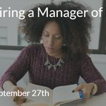 Image for the Tweet beginning: We're hiring a Manager of