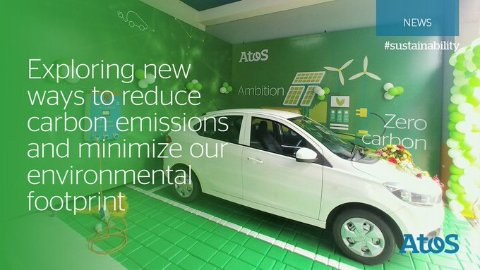 Limiting travel impact by encouraging eco-friendly transportation means. Inauguration of @Atos...
