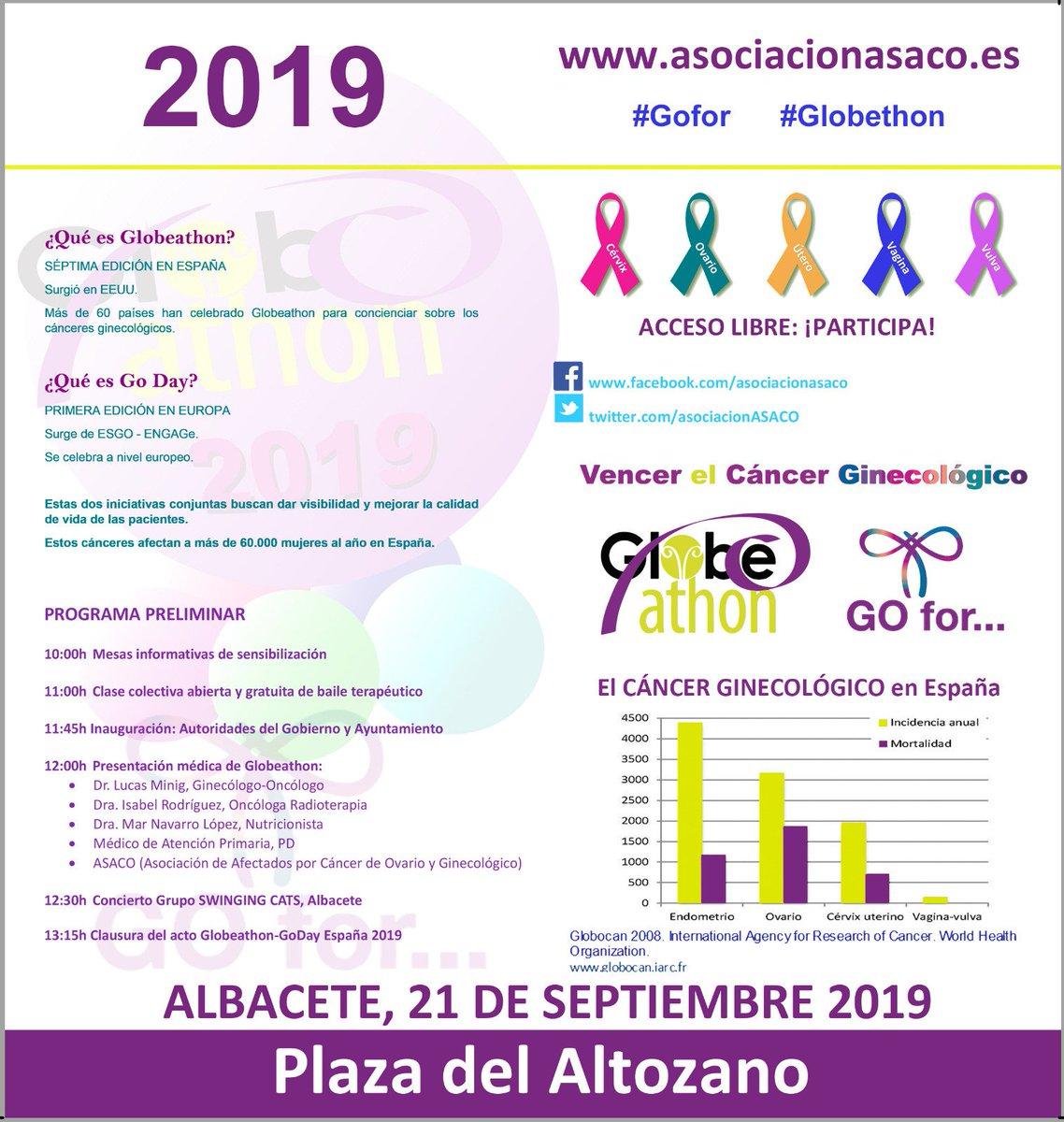 Este año estaremos en el #globlethon en Albacete con nuestra presidenta Mar Navarro