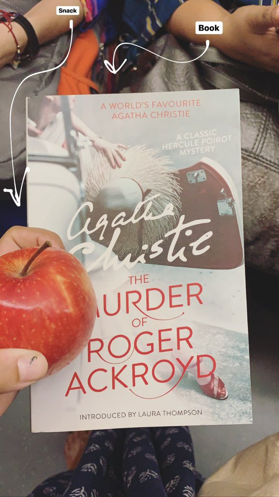 #currentlyreading THE MURDER OF ROGER ACKROYD by @agathachristie ♥️ #QOTD What you reading? 📖 @HarperCollinsIN @HarperCollins