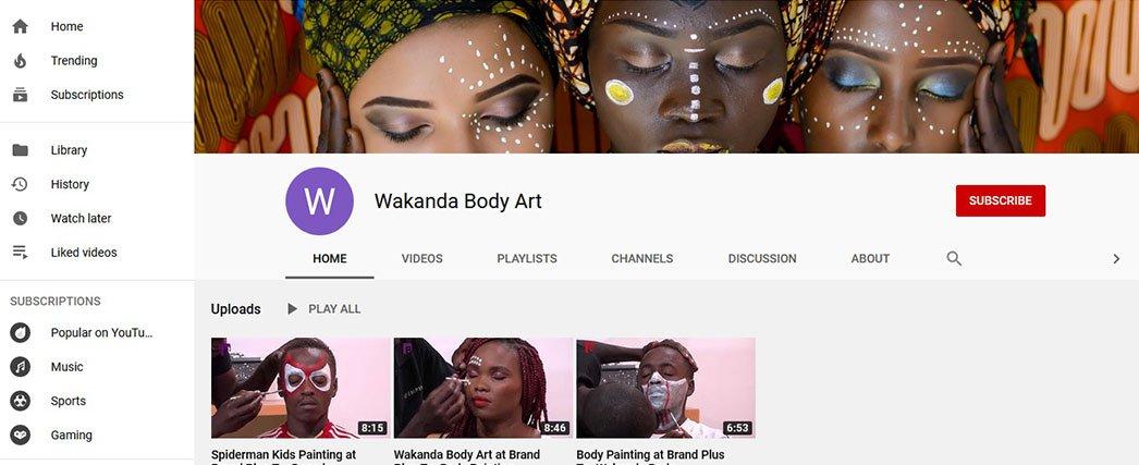 Wakanda Body Art Wakanda Team Twitter