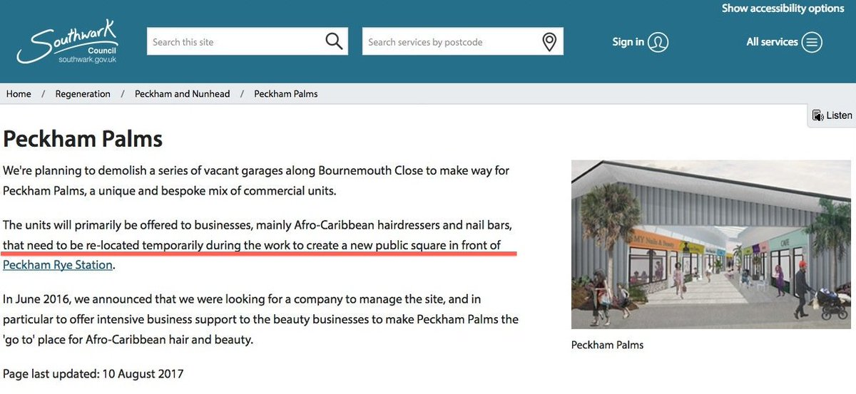 @NoirDia Yeah. We keep asking if the black businesses will return to the Station re-fit as that was the promise made by the Council in August 2017: