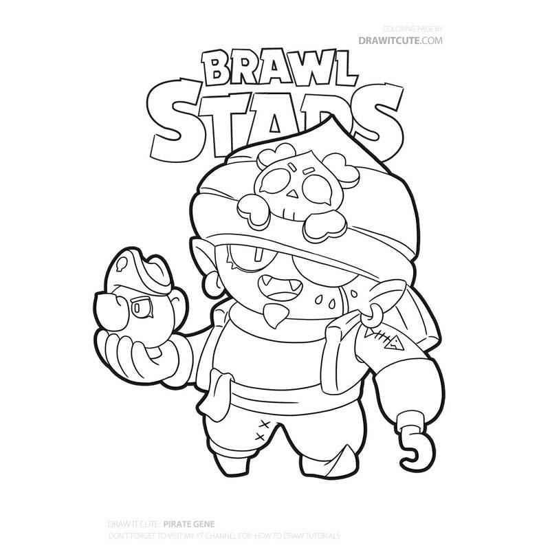 Draw It Cute V Twitter Pirate Gene Skin From Brawl Stars Easy