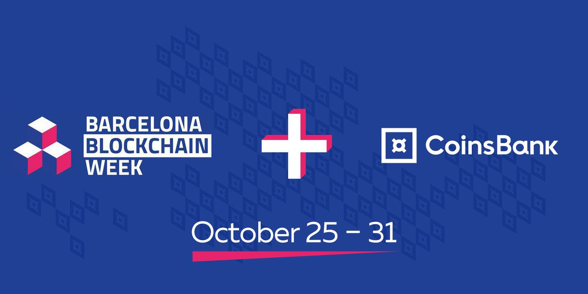 Barcelona Blockchain Week is joining forces with CoinsBank to create unforgettable experience for Democracy4all conference and Global Blockchain Awards.  We invite all our friends to join us Barcelona #Blockchain Week starting on October 26, 2019. https://t.co/YfwaZ7tSru https://t.co/4dsYdCZviN