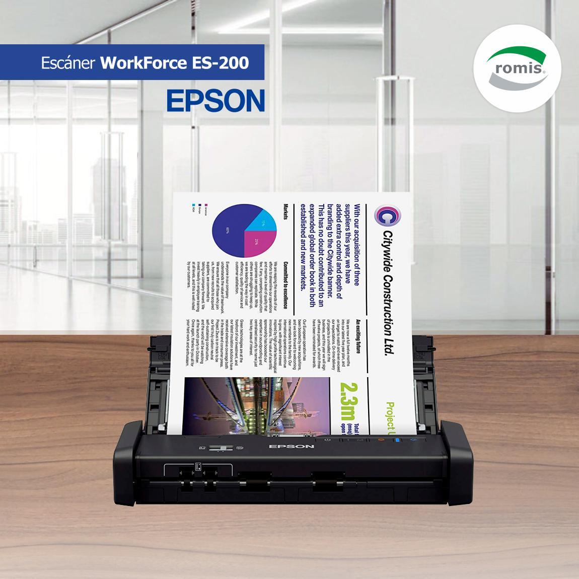 Potente y portátil. Escáner Epson WorkForce ES-200 Con capacidad de escaneo dúplex es la solución ideal para personas en movimiento y empresas que necesitan de un escáner pequeño y ligero de alto rendimiento. https://www.romis.com.uy/Escaner-duplex-portatil-Epson-WorkForce-ES-200/…