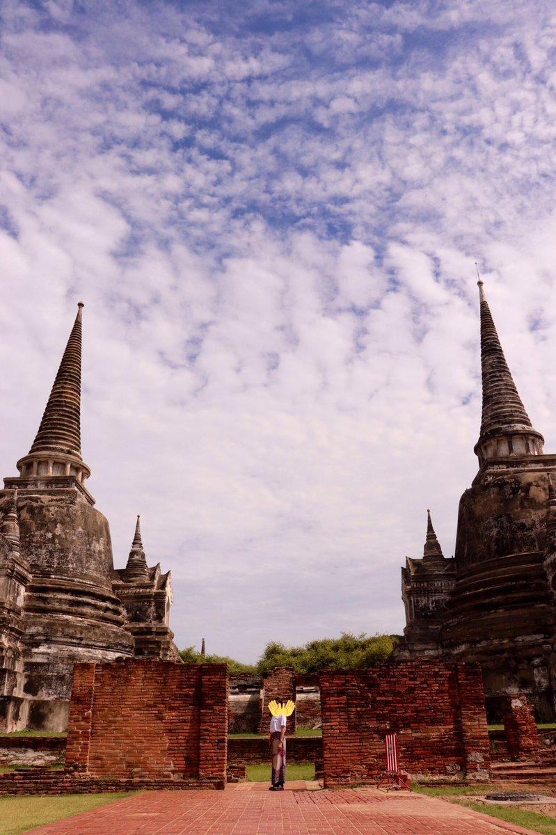 test ツイッターメディア - この前のタイ旅行での写真 📷💖 1枚目がバンコク市内のラチャダー鉄道市場で、2枚目以降は世界遺産のアユタヤで見てきた寺院の一部🕌 https://t.co/qOmdkfatMn
