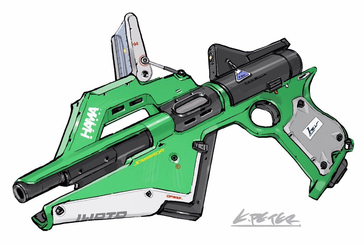 静岡の銃の絵!