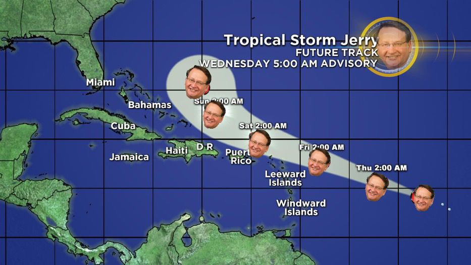 One thing we know for sure about this storm— it's not going anywhere near Michigan. #Jerry