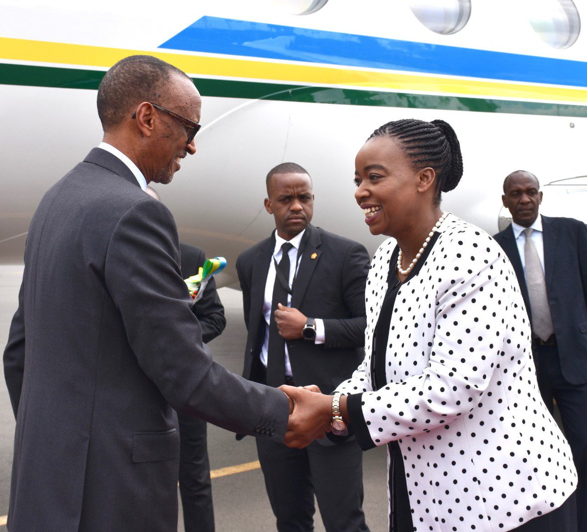 Received H.E. Paul Kagame, President of the Republic of Rwanda, at the JKIA today. President Kagame is Kenya for a one day official visit at the invitation of his host, H.E. President Uhuru Kenyatta.
