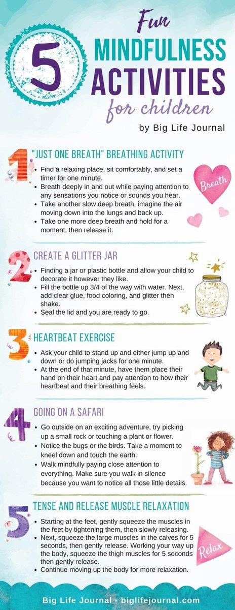 5 Fun Mindfulness Activities For Children. #mindfulness #SEL #mentalhealth