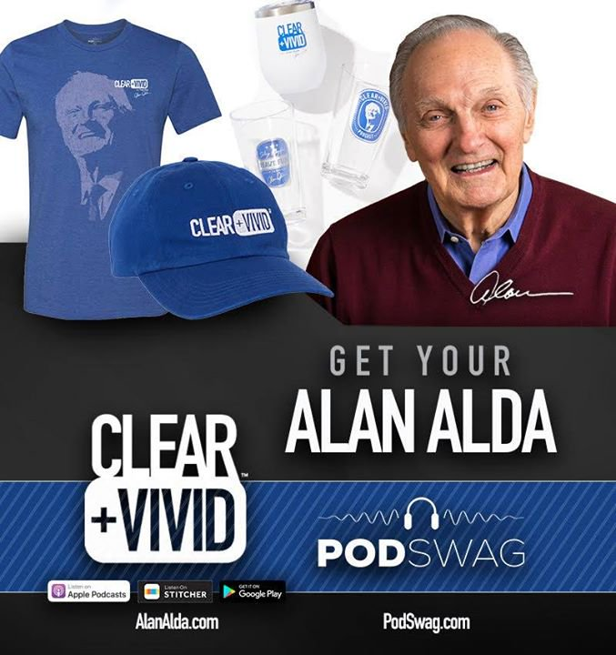 It's a great day for a #ClearAndVivid GIVEAWAY! Like, retweet, tag, comment (or all 4 😁) for a chance to win either an @alanalda Portrait Hoodie, or a Stainless Tumbler! Contest ends next Wednesday. Don't forget to comment with your desired hoodie size. Good Luck 🗣️🎙️