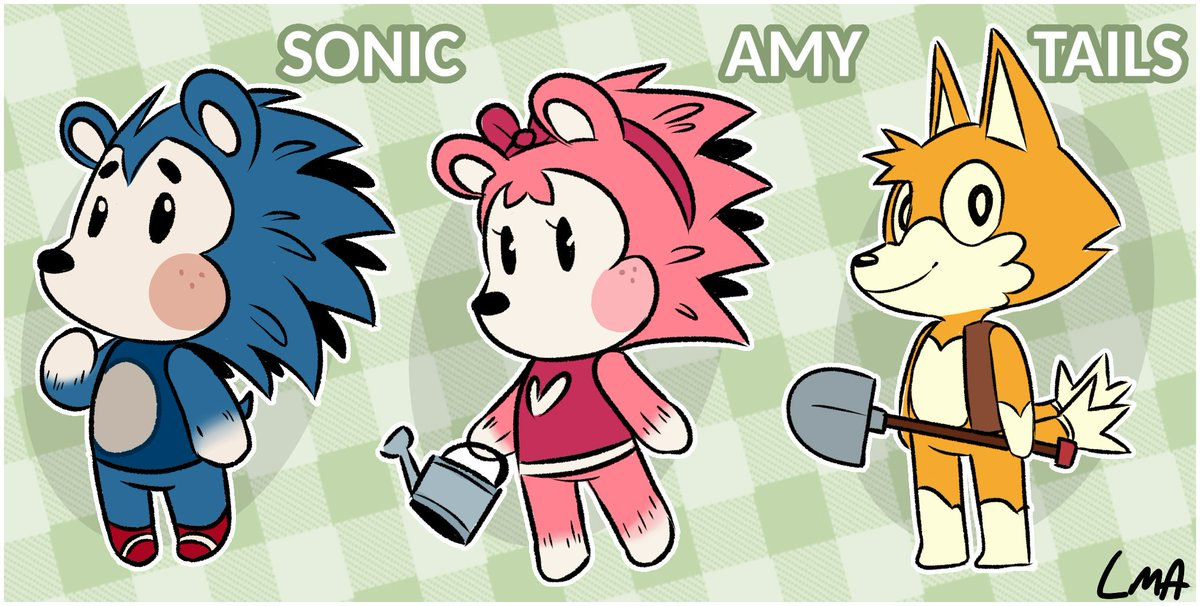 RT @LilMissAnimator: Sonic characters as Animal Crossing villagers 👀 Might make more if enough people like it https://t.co/EtVWQSyLMI
