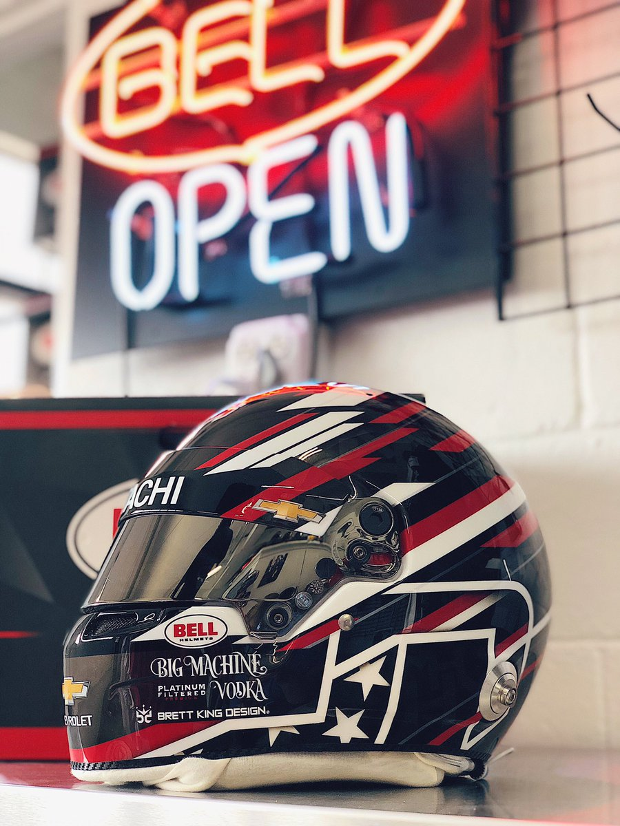 🔥 NEW HELMET REVEAL #BellAthlete @JosefNewgarden will be donning a special Bell HP7 painted by @BrettKingDesign for a special weekend at @WeatherTechRcwy. The @Team_Penske driver is looking to seal the deal on his second-career @IndyCar championship! #ChampionsWearBell