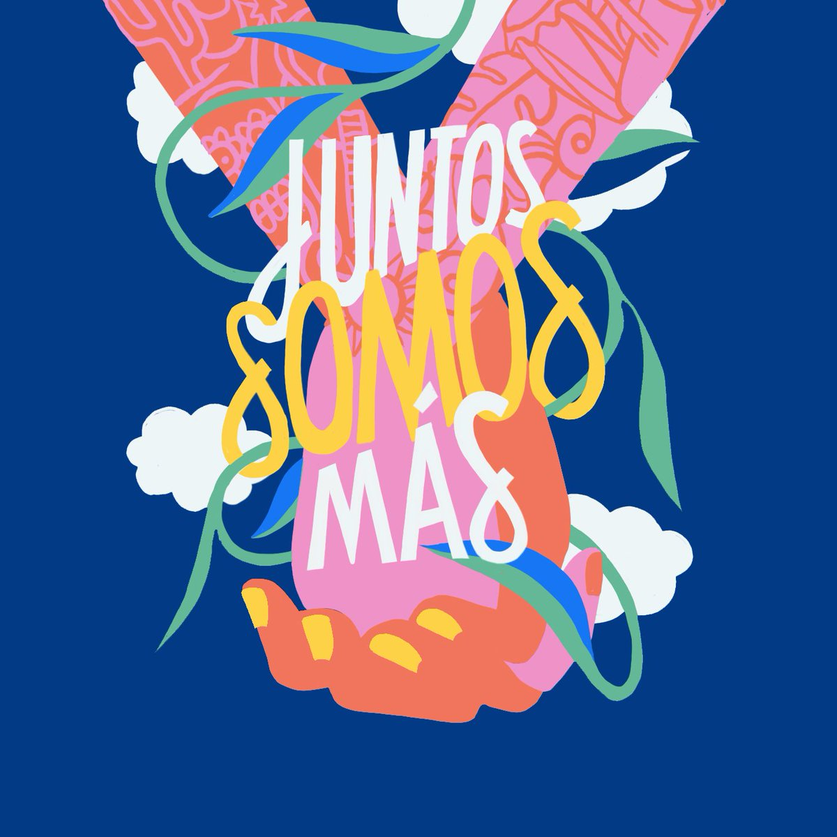 ¡Feliz Mes de la Herencia Hispana!   Happy Hispanic Heritage Month! Send love to the people in your life who have helped make you who you are. Art by community member and Dominican American artist, Edward Ubiera. #MoreTogether #JuntosSomosMás
