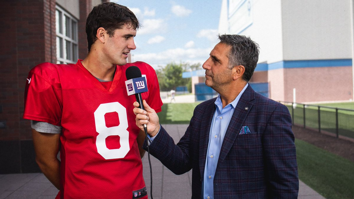 We caught up with Daniel Jones after his first practice as starting QB #GiantsPride