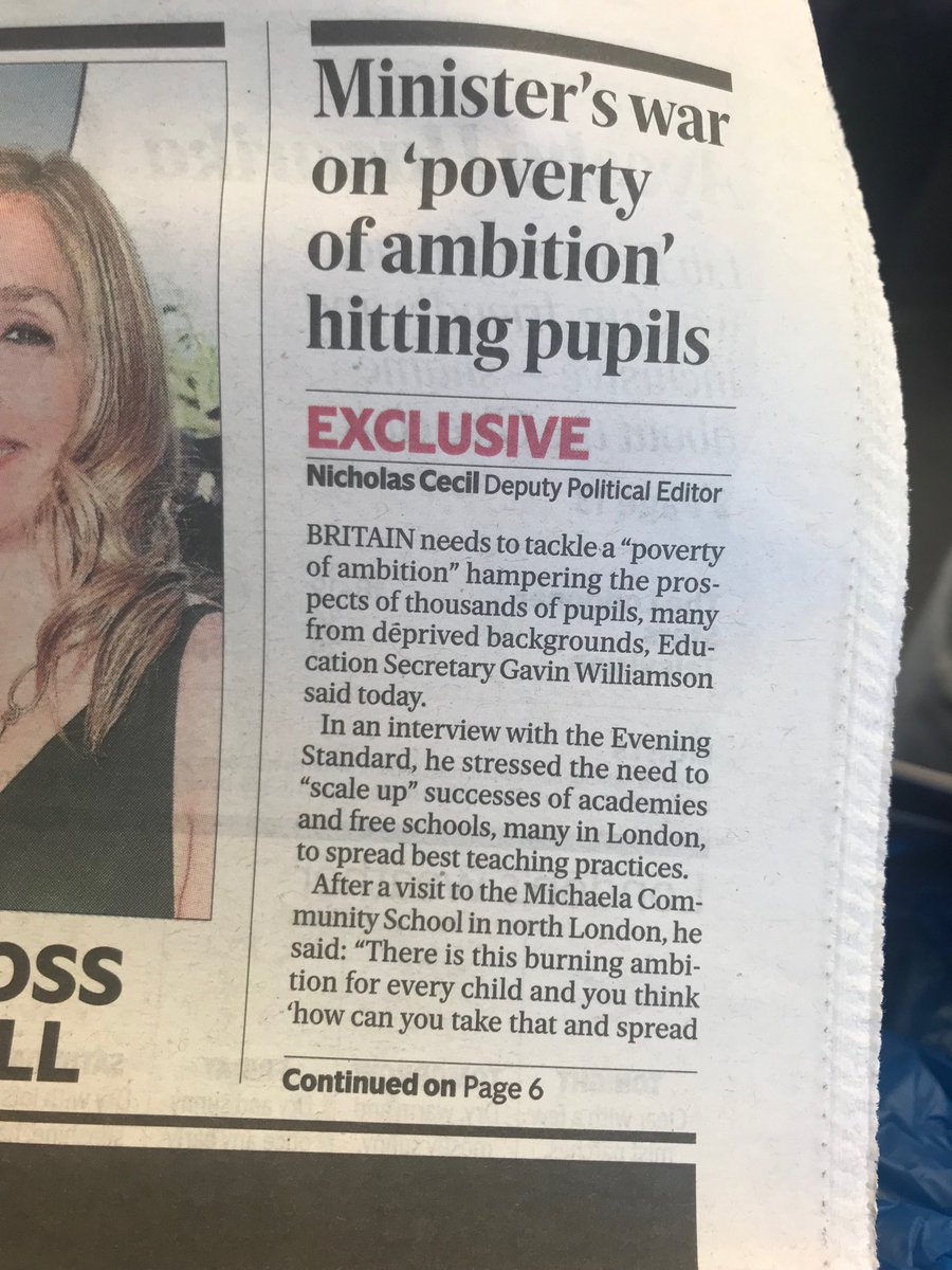 We are on the front page of the Evening Standard today! 🥰
