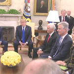 "Pres mentioned Robert O'Brien yesterday on his short list to succeed @AmbJohnBolton. ""I think he's fantastic."" Last March, @POTUS hailed O'Brien for helping to get American hostage Danny Burch released from Yemen. (O'Brien 3rd from right.)"