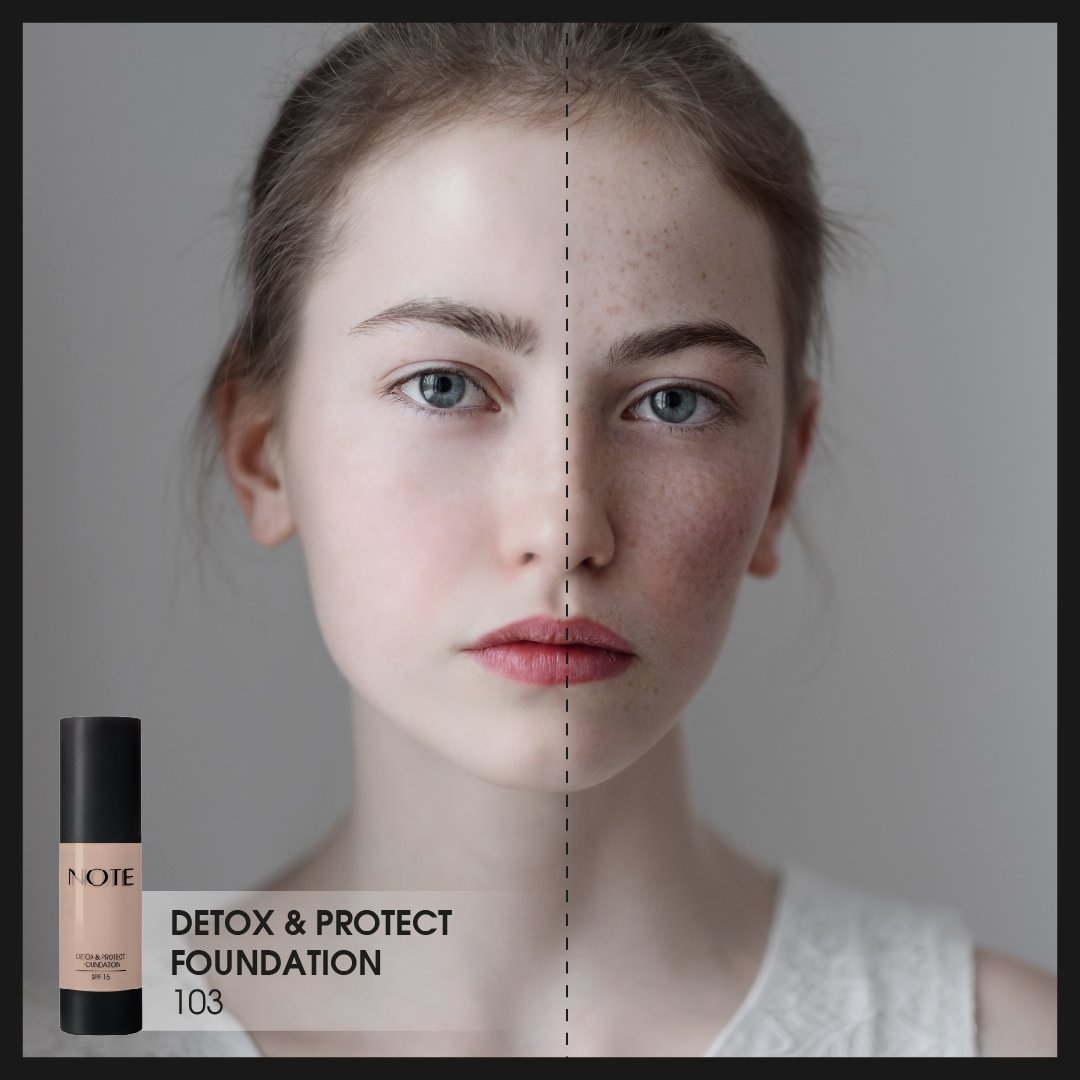 With the touch of the Detoks amp Protect Foundation BeforeAfter Note NoteCosmetics https t.co l9EbBWwH9w