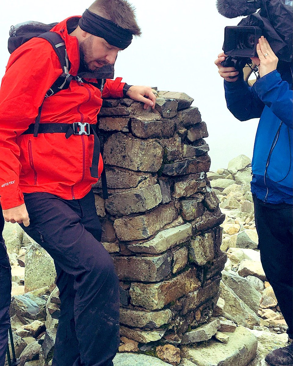 Wearing @TheRealBerghaus full kit to keep me warm and dry on Scarfell Pike. 1st spinal cord injury walker to complete national 3 peaks. Next 1st to complete top 10 uk highest mountains 🤞🏻. 2021 expedition somewhere.. ideas???
