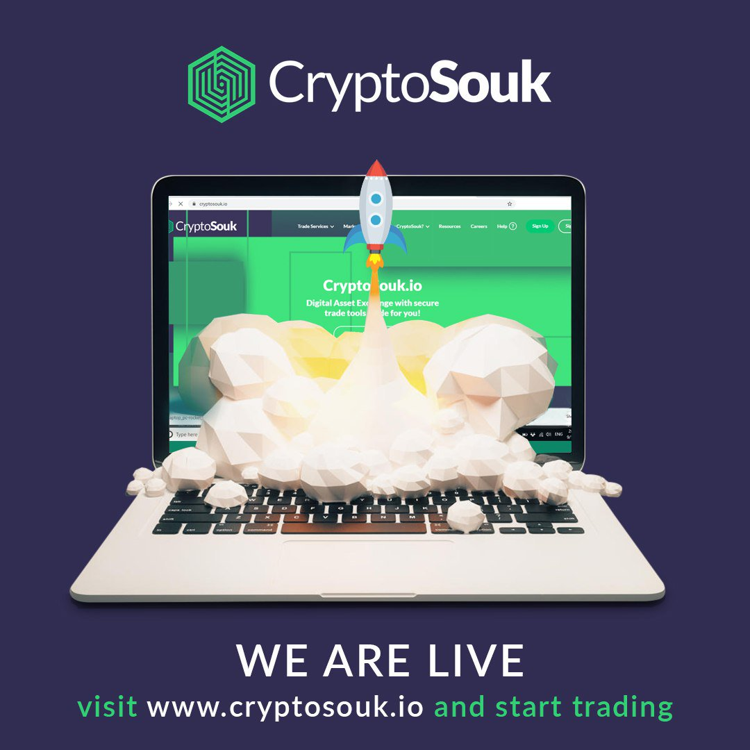 "CryptoSouk.io on Twitter: ""We are happy to announce that the ..."
