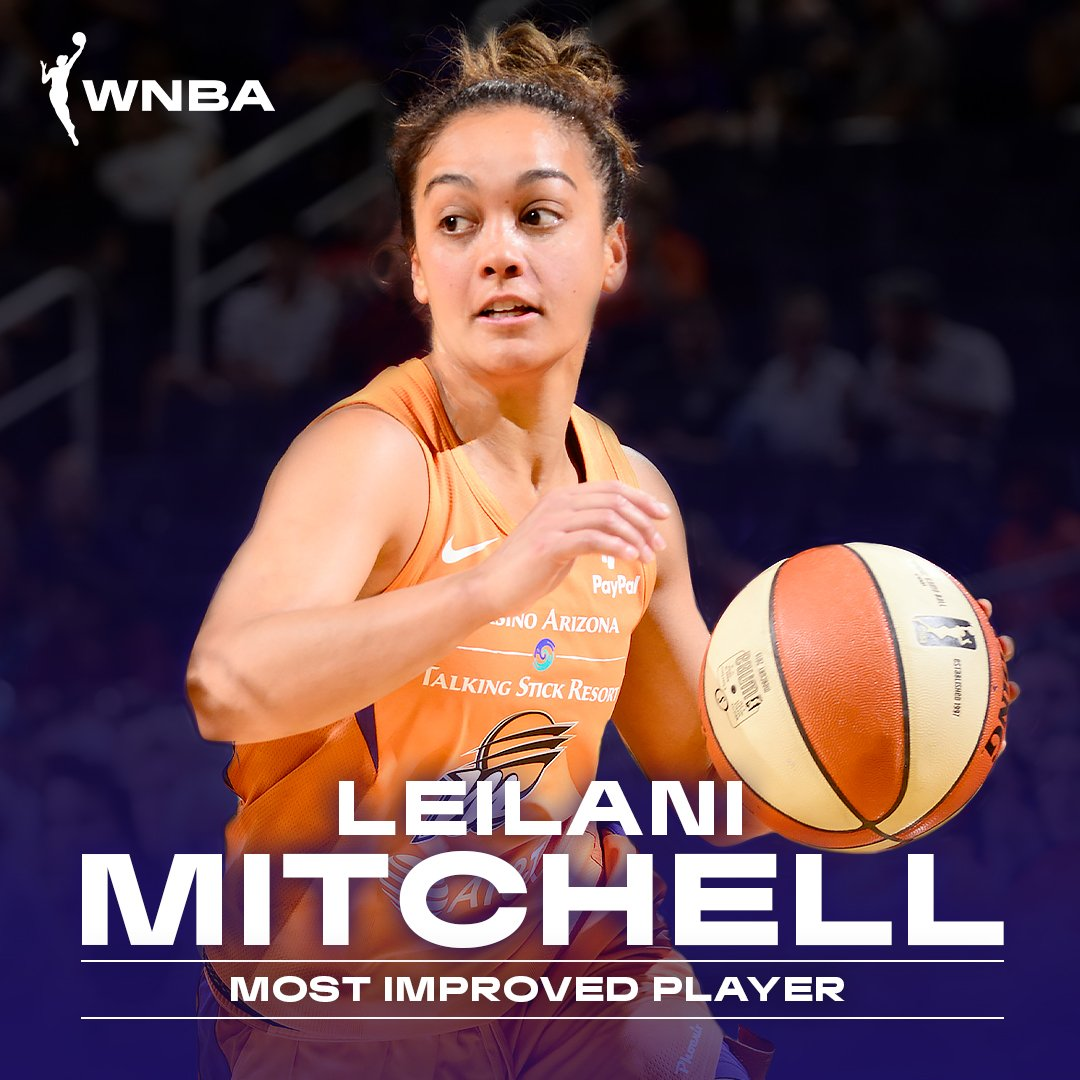 Congrats to the @PhoenixMercury's Leilani Mitchell on being named the 2019 #WNBA Most Improved Player!  Full release ➡️  https://on.nba.com/2lWWJ9k