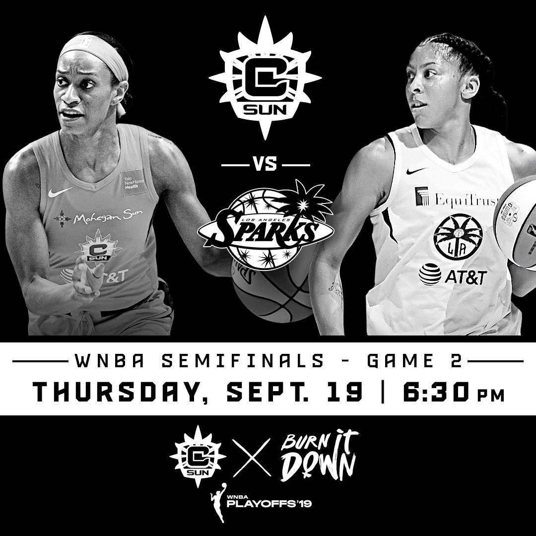 WNBA Semifinals. Game 2.   Different day. Same energy.   🎟️: http://bit.ly/SunPlayoffs2019