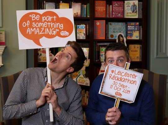 Sign up to take part in the #LeicesterReadathon by Thursday 19th September & be entered into a prize draw to win a visitfrom @RobBiddulph or @JustoneSteve PLUS, there are 10 tickets up for grabs for one lucky school to come along to the @gregjames @itschrissmith event